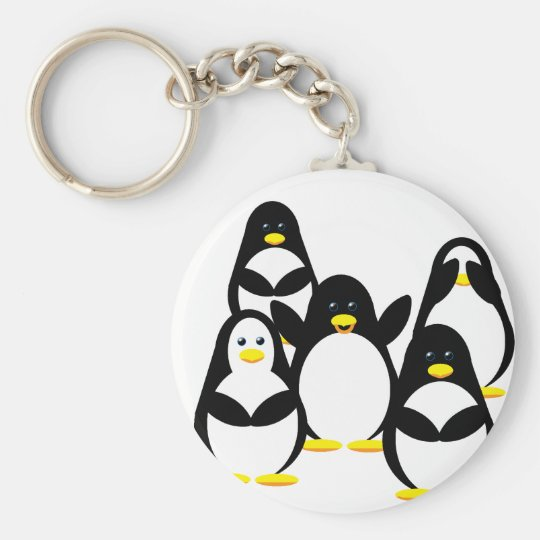 Penguin Party Keychain
