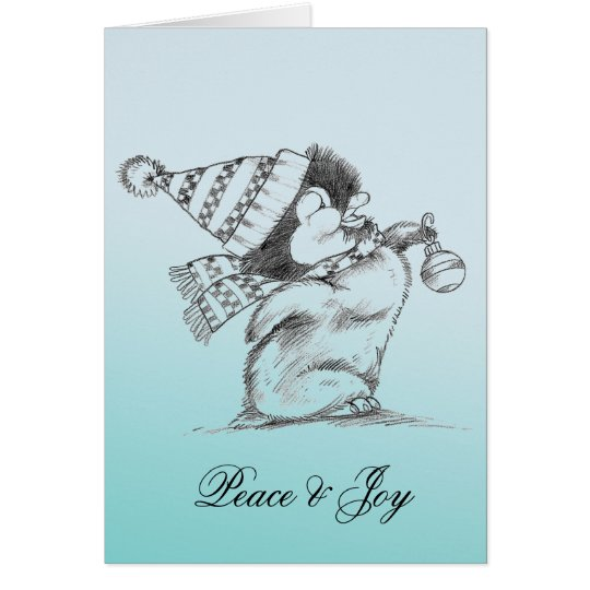 Penguin Peace and Joy Card