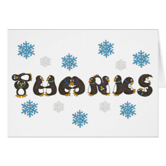 Penguin Penguins Snow Snowflake Thank You Notes