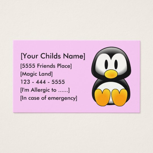 Penguin Pink - Customised Business Card