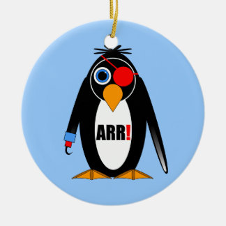 penguin pirate christmas ornament