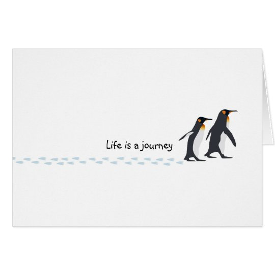 Penguin Prints Birthday Card