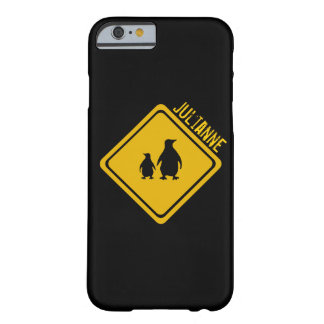 penguin road sign barely there iPhone 6 case