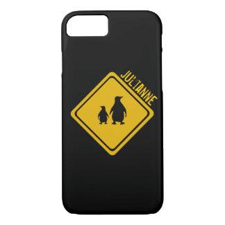 penguin road sign iPhone 7 case