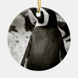 Penguin Round Ceramic Decoration