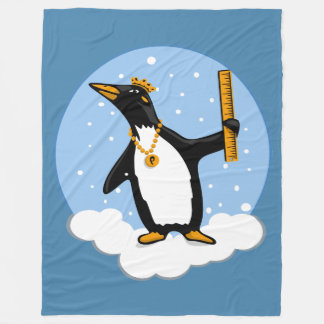Penguin Ruler Fleece Blanket