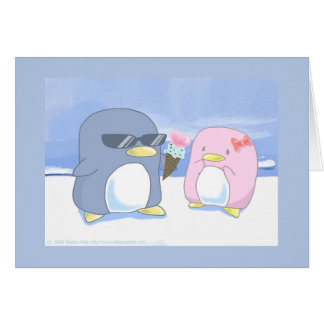 Penguin s are cute greeting card