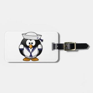 Penguin Sailor Luggage Tags