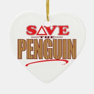 Penguin Save Christmas Ornament