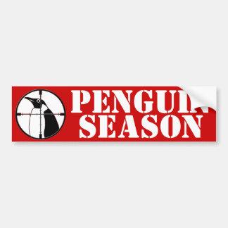 Penguin Season Bumper Sticker