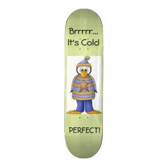 Penguin Skate Board, Green 21.3 Cm Mini Skateboard Deck