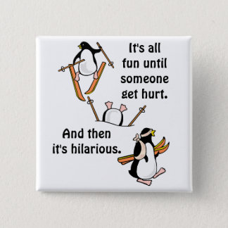Penguin Ski Adventure 15 Cm Square Badge