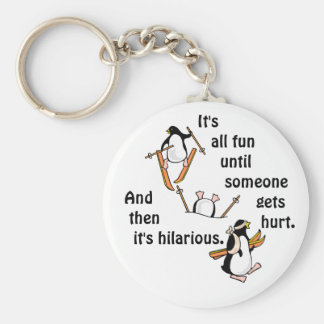 Penguin Ski Adventure Key Ring