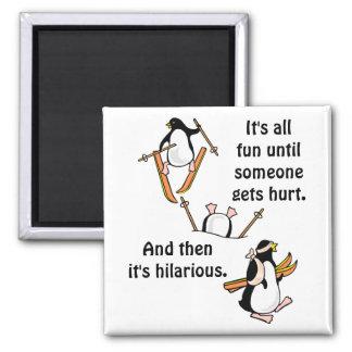 Penguin Ski Adventure Magnet