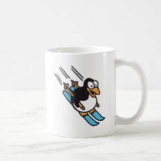 Penguin ski coffee mug