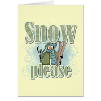 Penguin Ski Snow Please T-shirts and Gifts Card