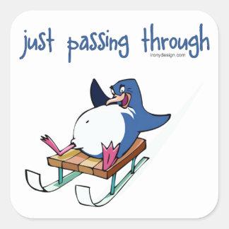 Penguin Sliding Square Sticker