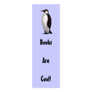 Penguin, Snow: BOOKS ARE COOL BOOKMARK Business Cards