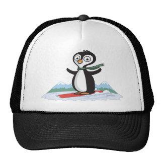 Penguin Snowboarder Cap