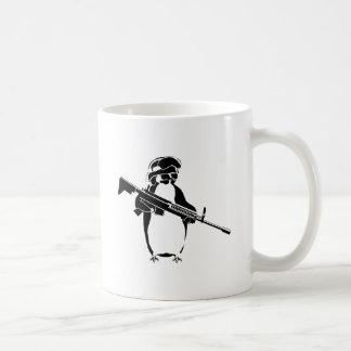 Penguin soldier classic white coffee mug