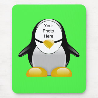 Penguin Suit Green Template Mouse Pads