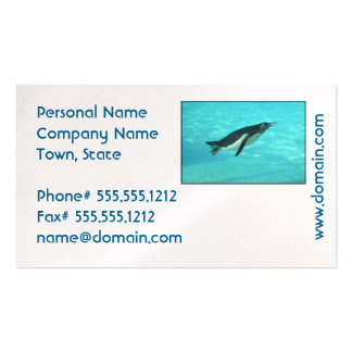 Penguin Swimming Underwater Pack Of Standard Business Cards