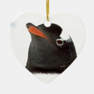 Penguin-tastic Ceramic Heart Decoration