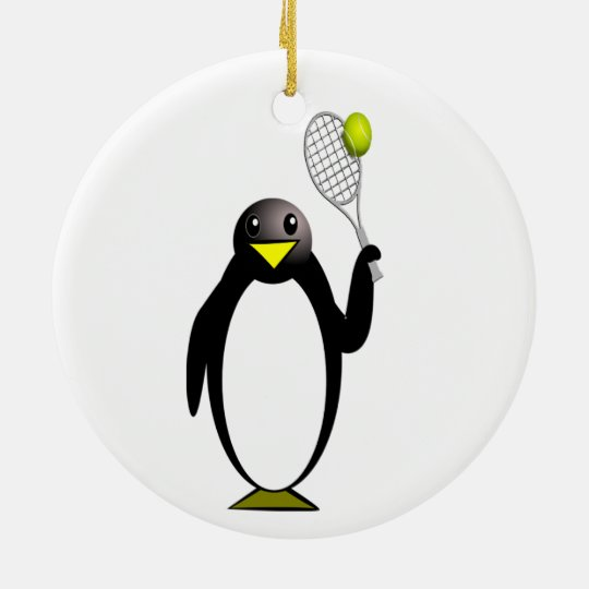 Penguin Tennis Christmas Ornament