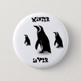 Penguin time 6 cm round badge