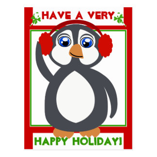 Penguin Toon Holiday! Postcard