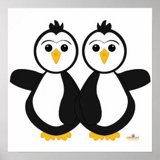 Penguin Twins Print