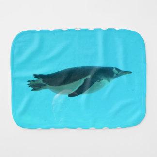 Penguin Underwater Baby Burp Cloth