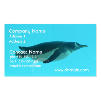Penguin Underwater Business Card Templates