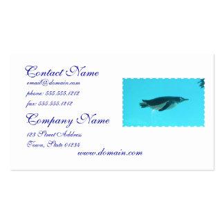 Penguin Underwater Pack Of Standard Business Cards