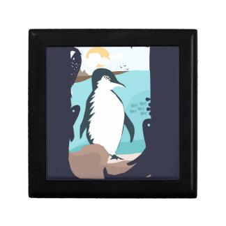 Penguin Vacation Trinket Box