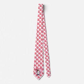 Penguin Valentine's Day Tie