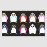 Penguin Variety (2) Rectangle Stickers
