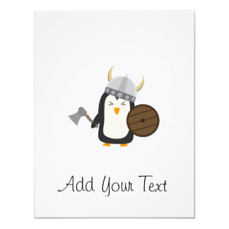 Penguin Viking 11 Cm X 14 Cm Invitation Card