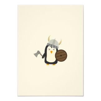 Penguin Viking 11 Cm X 16 Cm Invitation Card