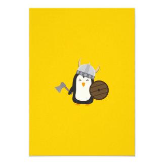 Penguin Viking 13 Cm X 18 Cm Invitation Card