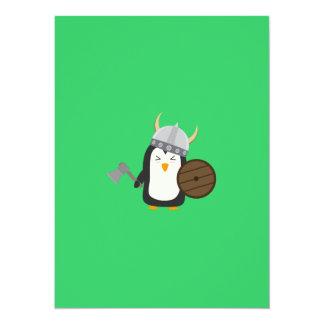 Penguin Viking 14 Cm X 19 Cm Invitation Card
