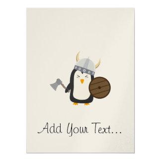 Penguin Viking 17 Cm X 22 Cm Invitation Card