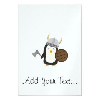 Penguin Viking 9 Cm X 13 Cm Invitation Card