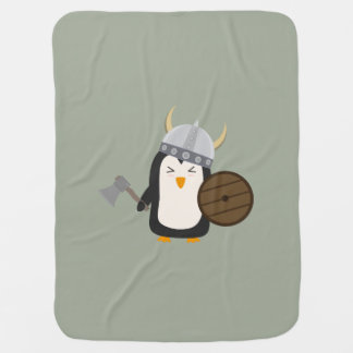 Penguin Viking Baby Blanket