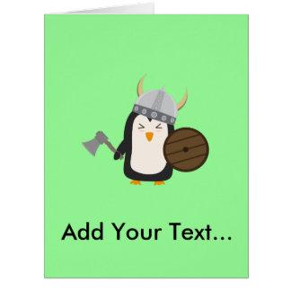 Penguin Viking Big Greeting Card
