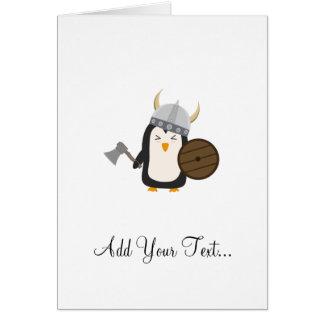 Penguin Viking Greeting Card