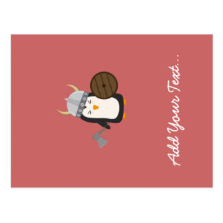 Penguin Viking Postcard