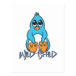 Penguin WC blue Postcards