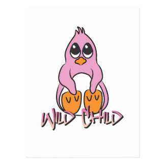 Penguin WC pink Post Cards
