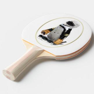 Penguin Wearing Hockey Gear Ping Pong Paddle